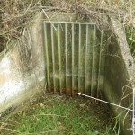 Outfall from Pond with an orifice plate