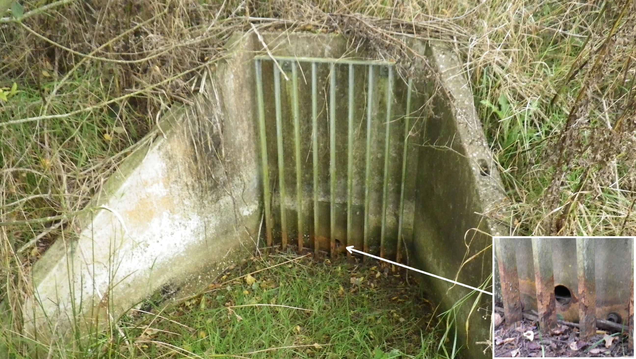 outfall-from-pond-with-an-orifice-plate